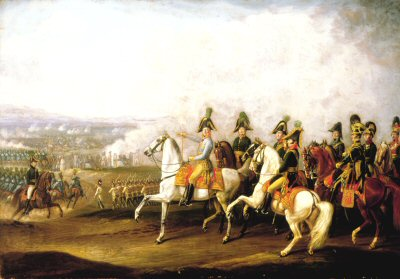 Austrian Generals Watching the Battle by Albrecht Adam (GS)