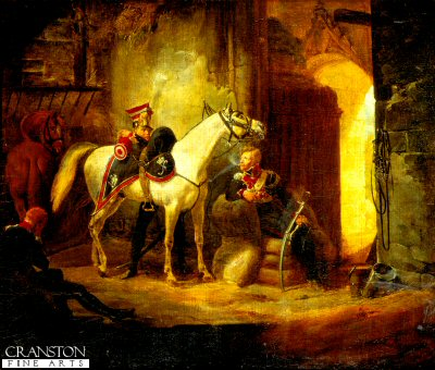 Lancers in a Stable by Horace Vernet.