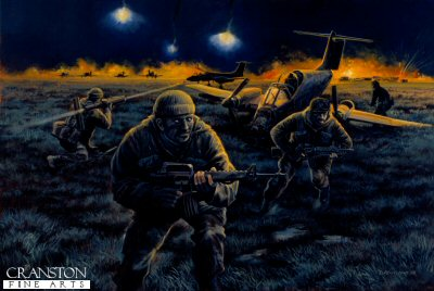 Raid on Pebble Island, Falkland Islands, 1982 by David Pentland. (P)