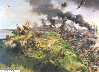 The Defence of Calaise by Terence Cuneo.