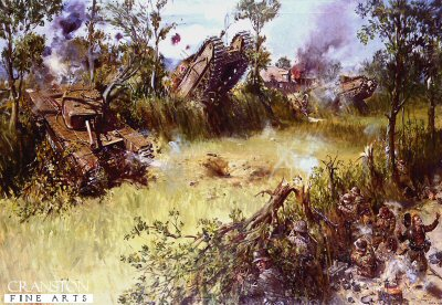Scots Guards Fighting Through the Bocage by Terence Cuneo. (Y)