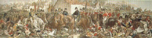 Wellington and Blucher the meeting at the Belle Alliance, Waterloo 1815 by Daniel Maclise.