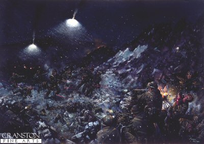 Battle of Tumbledown Mountain by Terence Cuneo.