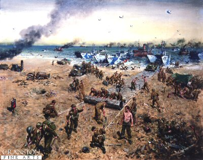 Sword Beach by Terence Cuneo.