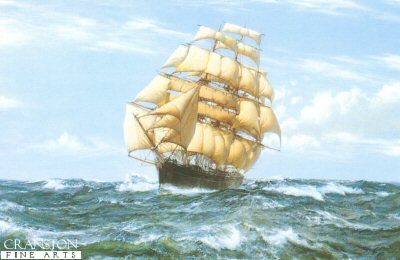 Racing Home - The Cutty Sark by Montague Dawson.