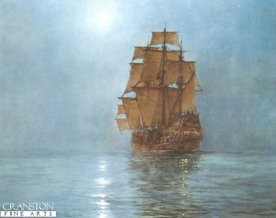 Crescent Moon by Montague Dawson.