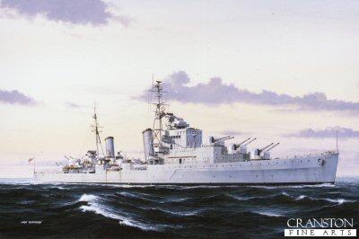 HMS Dido by Ivan Berryman.