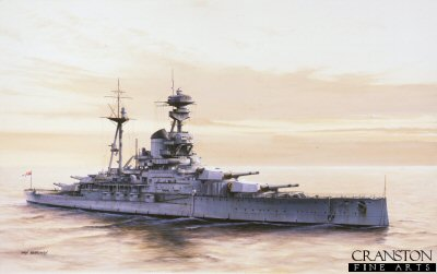 HMS Ramillies by Ivan Berryman