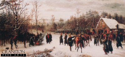 The Arrival of Prince Charles Friedrich Before the Battle by Conrad Freyberg. (Y)