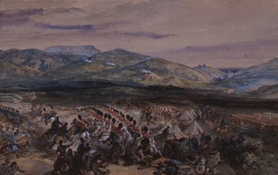 Charge of the Heavy Brigade by Orlando Norie. (XX)