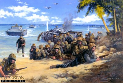 Red Beach Two, Tarawa Atoll, 20th November 1943 by David Pentland. (GL)