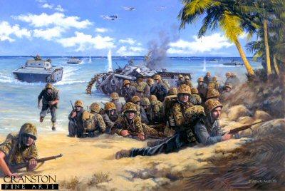Red Beach Two, Tarawa Atoll, 20th November 1943 by David Pentland.