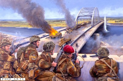 Graebners Attack, Arnhem Bridge, 18th September 1944 by David Pentland.