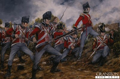 1st Regiment of Foot Guards at Waterloo by Brian Palmer.