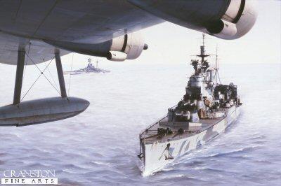 HMS Renown by Ivan Berryman.