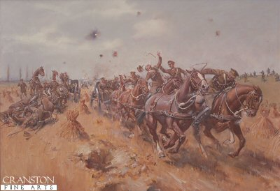 Saving the Guns at Le Cateau by Terence Cuneo.