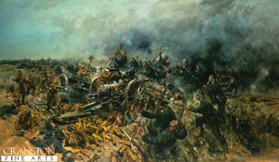 Last Stand of the 5th (Gibraltar) Battery by Terence Cuneo.