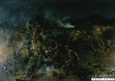 The Battle of Monte Cassino by Terence Cuneo. (Y)