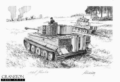 The Ambush, North of Malinava Latvia, 22nd July 1944 by David Pentland. (P)