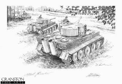 Springing the Trap, North of Malinava Latvia, 22nd July 1944 by David Pentland. (P)