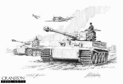 Holding the Line, Dunaburg, Latvia, 21st July 1944 by David Pentland. (P)