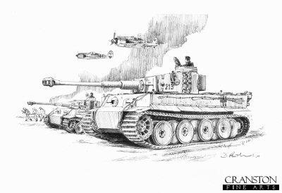 Clearing the Ostsack, Narva Bridgehead, Northern Russia, 6th April 1944 by David Pentland. (AP)