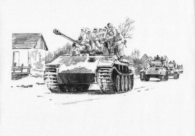 The Road to Tscherkassy, Medwin, Ukraine, 3rd-9th February 1943 by David Pentland. (AP)