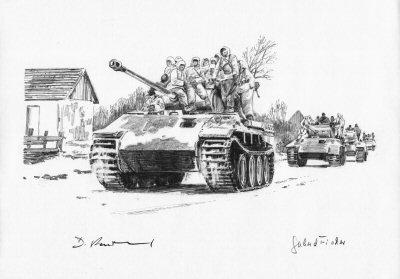 The Road to Tscherkassy, Medwin, Ukraine, 3rd-9th February 1943 by David Pentland. (P)