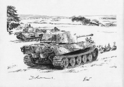 Stemming the Tide, Straussberg, East of Berlin, 19th April 1945 by David Pentland. (P)