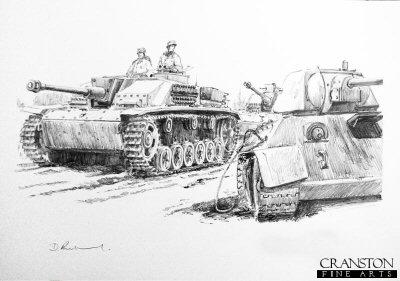 Stumgeschutz Vor, Smolensk, Central Russia, September 1943 by David Pentland.