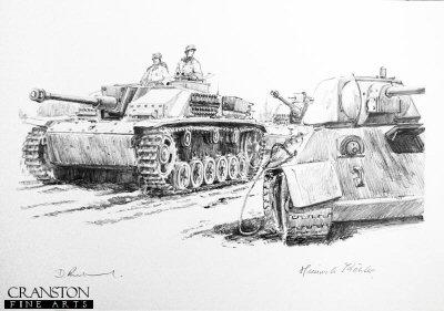Stumgeschutz Vor, Smolensk, Central Russia, September 1943 by David Pentland. (P)