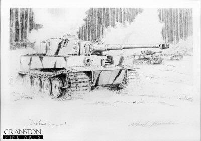 Feldwebel Johann Muller - Tigers to the Front by David Pentland. (P)