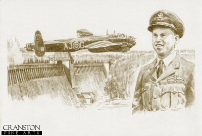 Tribute to the 617 Sqn Dambusters Crew of Lancaster AJ-G by David Pentland.