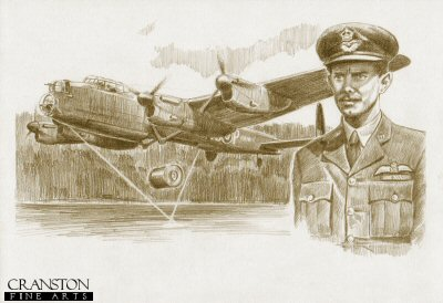 Tribute to the 617 Sqn Dambusters Crew of Lancaster AJ-P by David Pentland.