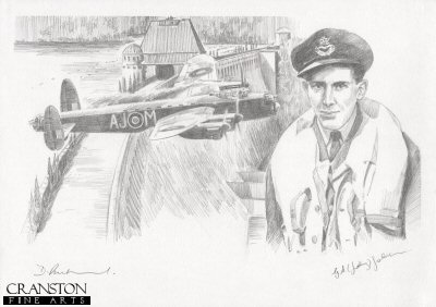 Tribute to the 617 Sqn Dambusters Crew of Lancaster AJ-M by David Pentland. (P)