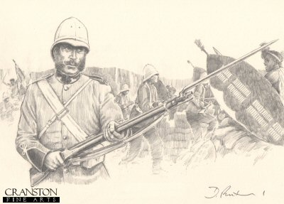 Colour Sergeant Frank Bourne at the Defence of Rorke's Drift by David Pentland.