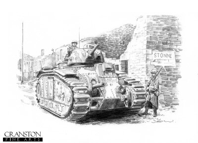 Char B at Stonne by David Pentland.