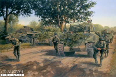 Operation Cobra, Normandy, 28th July 1944 by David Pentland.