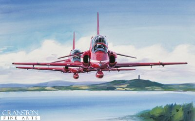 Red Arrows Over Strangford by David Pentland. (GS)