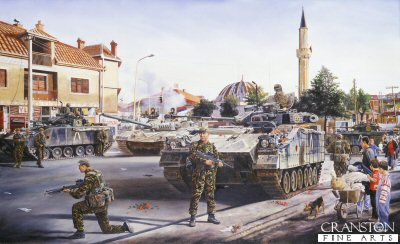 1st Battalion Irish Guards enter Pristina, Kosovo Operation Agricola by David Rowlands. (GL)