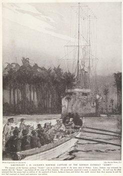 Lieutenant J. M. Jacksons Surprise Capture Of The German Gunboat Komet.