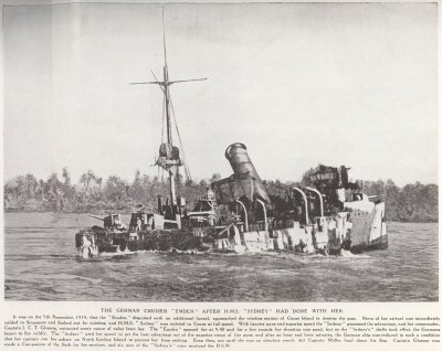 The German Cruiser Emden After H.M.S. Sydney Had Done With Her.
