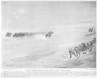 Major Wheeler Riding To His death at The North Mound.