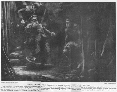 Lance Corporal Gray Rescuing A Gassed Officer From A Mine Gallery.