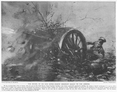 The Recoil Of His Gun Often Threw Sergeant Bailey To The Ground.