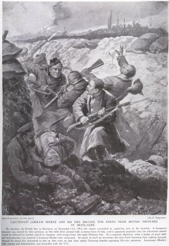 Lieutenant Lorrain Brodie And His Men Driving The Enemy From British Trenches At Becelaere.