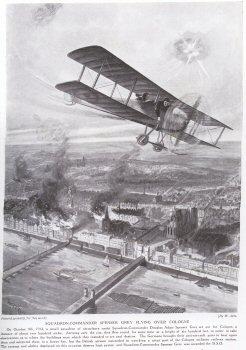 Squadron-Commander Spenser Grey Flying Over Cologne.