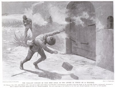 The Gallant Exploits of Naik Sher Singh, In the Course of Which he is Wounded.