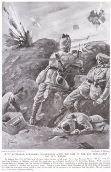 Sepoy Khudadad Workingta Machine Gun After The Rest Of The Gun Detachment Had Been Killed.