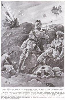 Sepoy Khudadad Workingta Machine Gun After The Rest Of The Gun Detachment Had Been Killed.